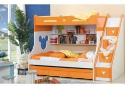 children bunk bed with stairs